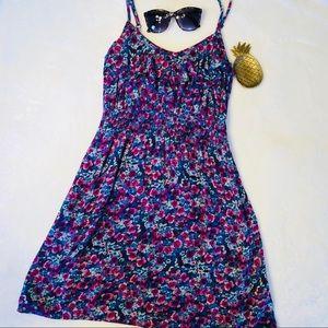 Elle Floral Ruffle Empire Waist Mini Summer Dress